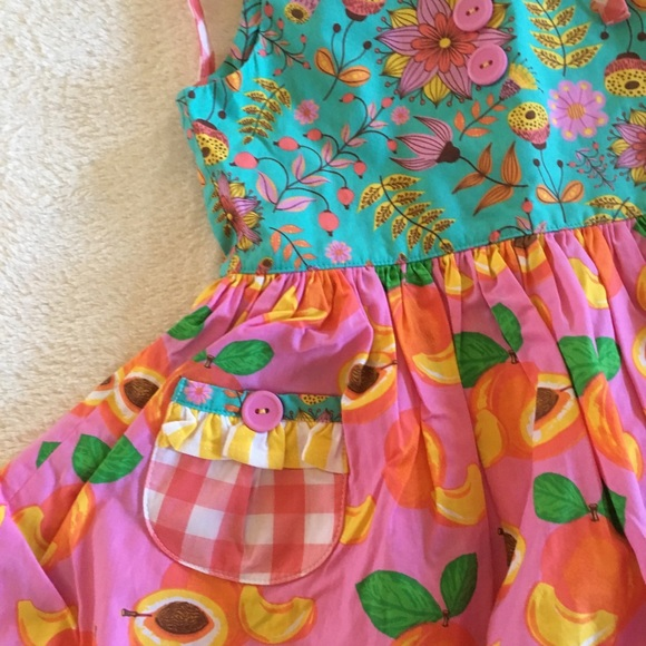 fb26dc9baba7 Eleanor Rose Georgia Peach dress 3-4. M 5a723a188df470e55bf90c8d